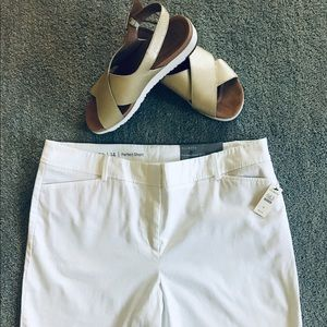 Talbots new with tags white Perfect Shorts.